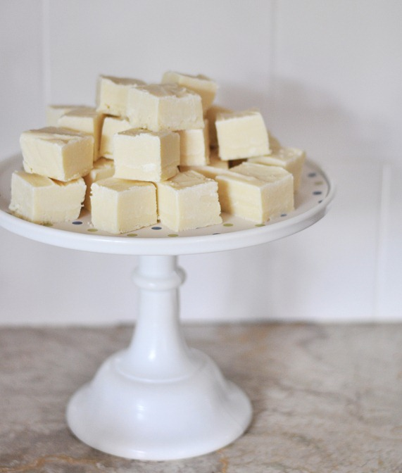 plain white chocolate fudge