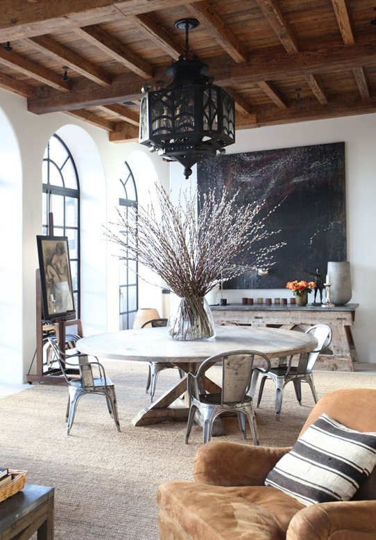 mixed rustic wood tones