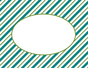 striped notecard