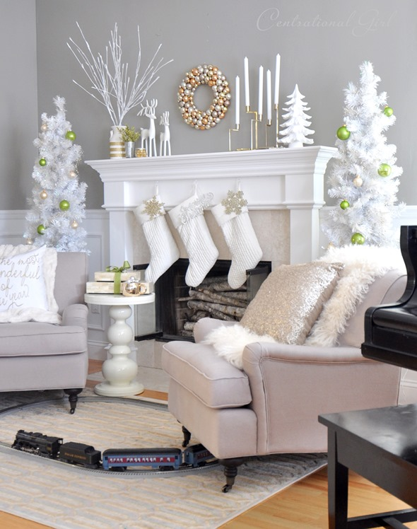 christmas in living room
