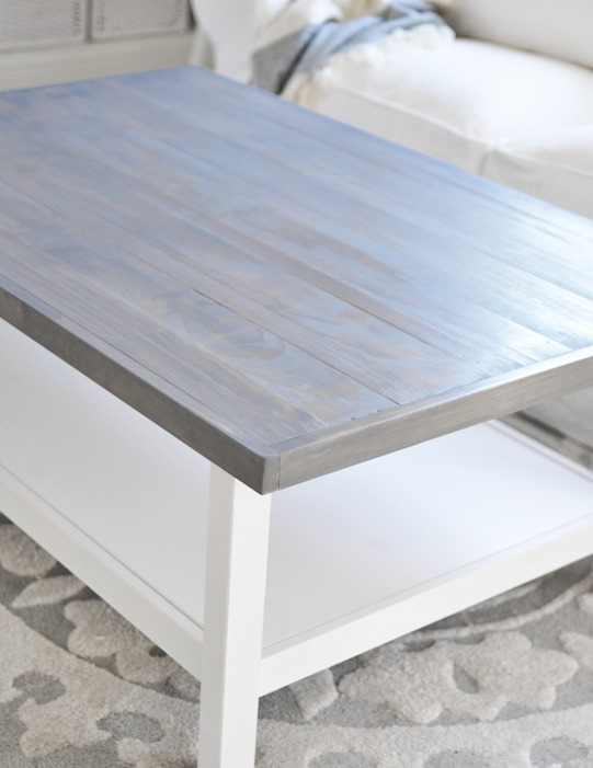 Weathered Gray Coffee Table Centsational Style