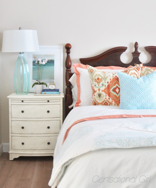 coral guest room centsational girl