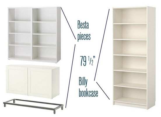 besta billy bookcase project