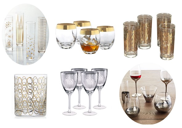 gold silver barware