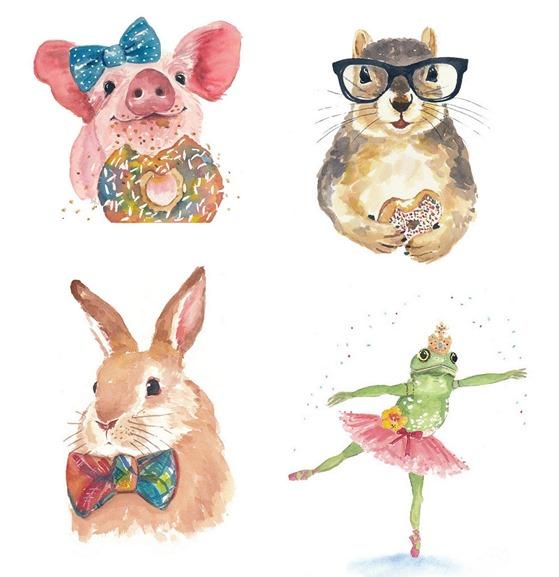 Watercolor Animal Prints | Centsational Girl
