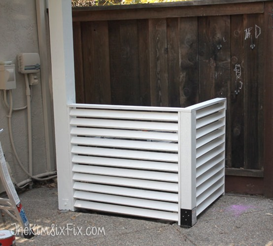 diy louvered air conditioner screen