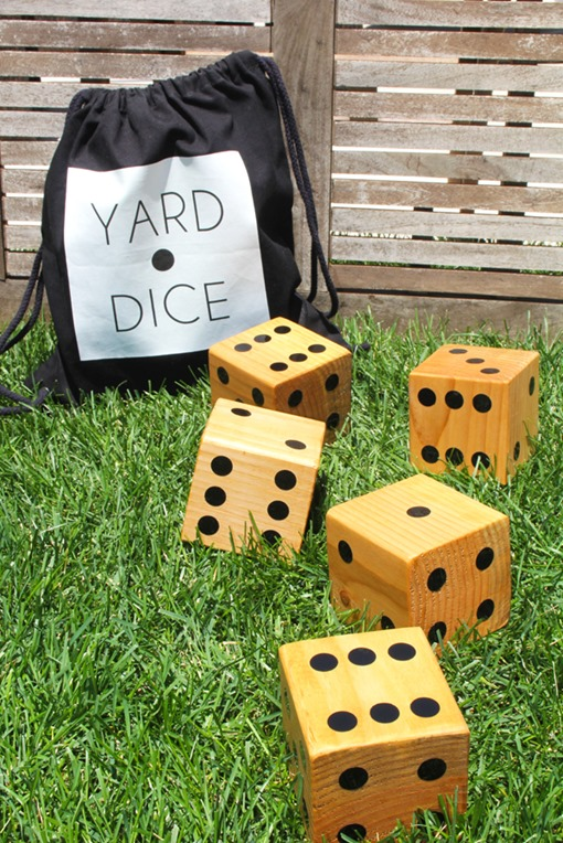 diy wood dice