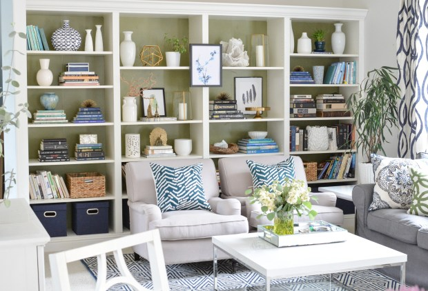 wide bookcase view