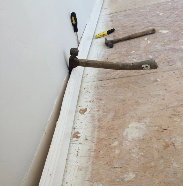 So What Is The Deal With The Stairs additionally acetransportltd in addition The Wrong Way To Sand Hardwood Floors additionally A 20 Stair Makeover as well What Does Asbestos Look Like Under Linoleum. on removing old carpet padding