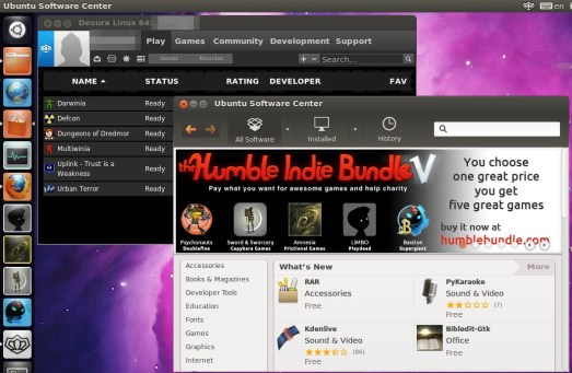 Desura and Humble indie bundle Ubuntu