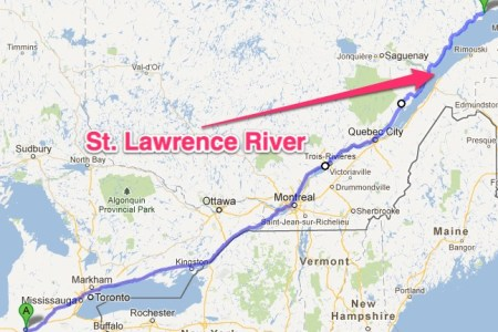 Map Of St Lawrence River - Us map with st lawrence river