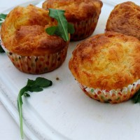 Muffins Saint Marcellin-bacon