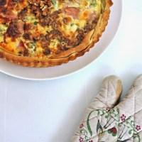 Tarte bacon, roquefort et noix
