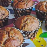 Muffins ultra-moelleux banane & Nutella