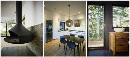 Maison en bois moderne et design for Maison interieur bois moderne