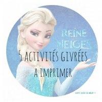 5 activités La reine des neiges à imprimer