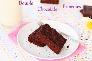 Double chocolate black beans brownies