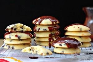 Chocolate and orange ricotta cookies