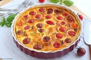 Cherry Tomato Quiche