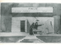From The Antigone Modellbuch; sketch for Prologue by Caspar Neher