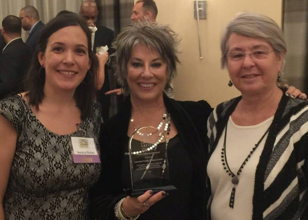 CFVC was honored to receive the award for Community Partner of the Year from Caminar Latino. Pictured are Jessica Nunan (Executive Director, Caminar Latino), Meg Rogers (Executive Director, CFVC) and Vivan Keller (Multicultural Advocate, CFVC)