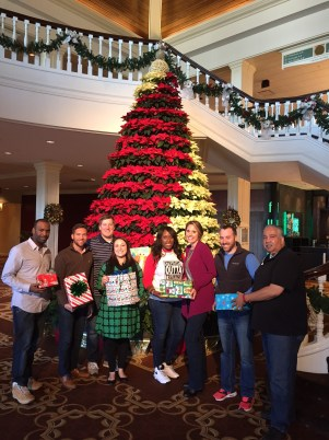 Some of the Christmas elves from the Verizon Wireless North Alabama/North Georgia Sales Training Team delivered Christmas presents for our Children's Program on 12/22/15