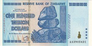 $100 trillion note from Zimbabwe