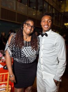 DC United player Michael Seaton, left, with Kamone Lee at the Tango with the Stars gala on April 10th. Seaton danced in the competition to benefit the United for DC charity. (Photo by Kate Warren)