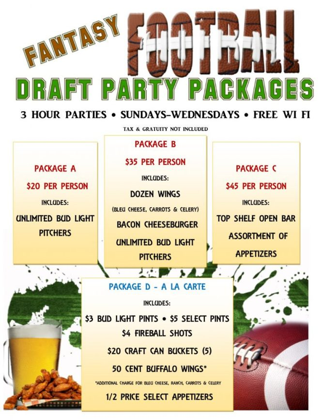 Fantasy Football Party Package