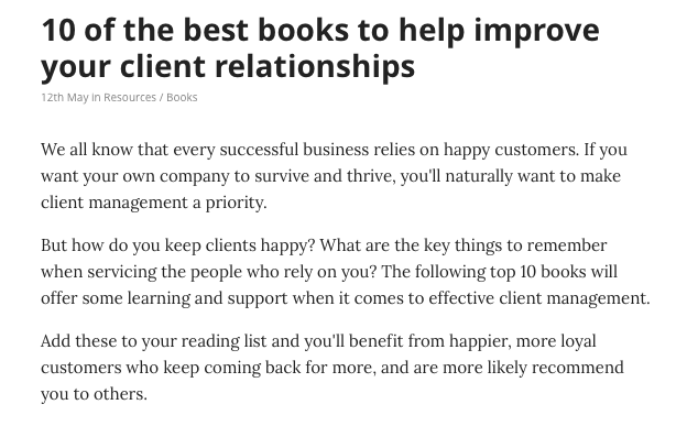 10 best books on client relationships notey.com