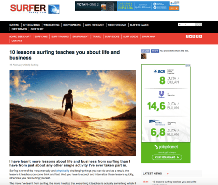 Article by Chantell Glenville on SurferToday.com