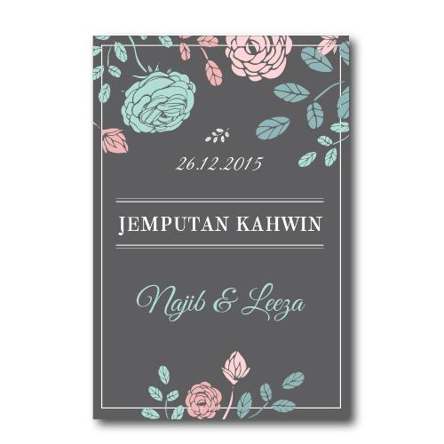 Kad Kahwin Floral 17