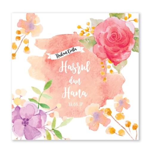 Kad kahwin Floral 61