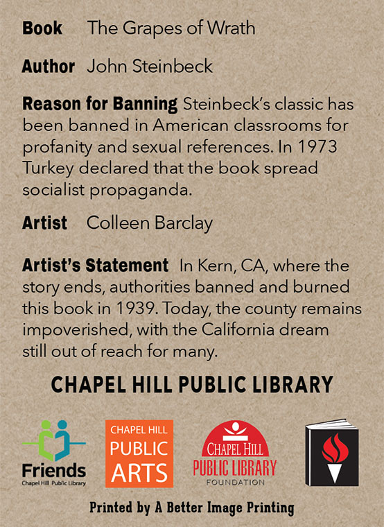 2015 Banned Books Trading Cards at Chapel Hill Public Library