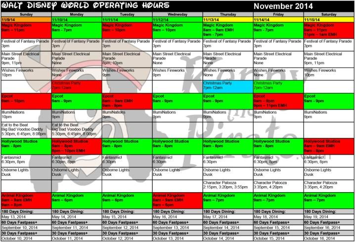 Disney World Crowd Calendars 11 November Disney World Crowds November ...