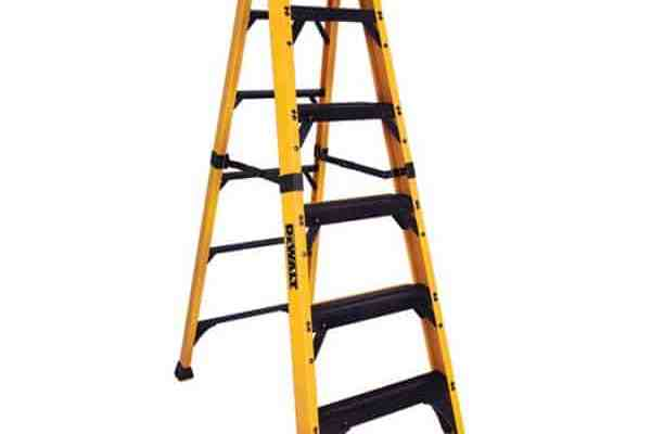 Hang Christmas Lights Safely With This DeWALT Fiberglass Stepladder