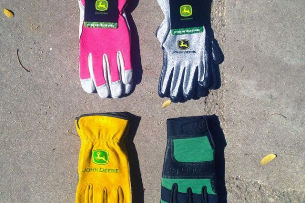 John Deere Work Gloves and Safety Glasses