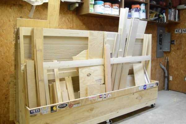 Build a Rolling Lumber Rack to Fit Full Sheets of Plywood Plus Cut Offs