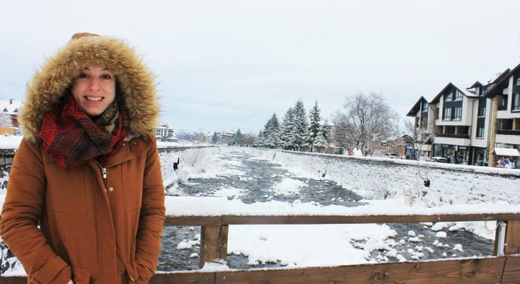 Charlie in Bansko on the bridge 1200