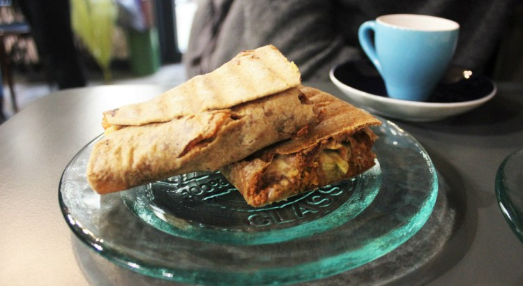 Salted Cafe - Red Pesto Wrap - Vegan in Sofia - Charlie on Travel