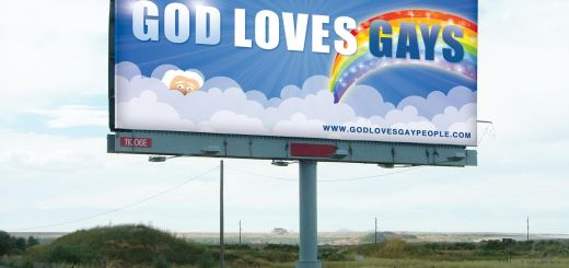 god loves gays billboard