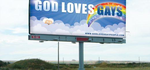 god loves gays billboard