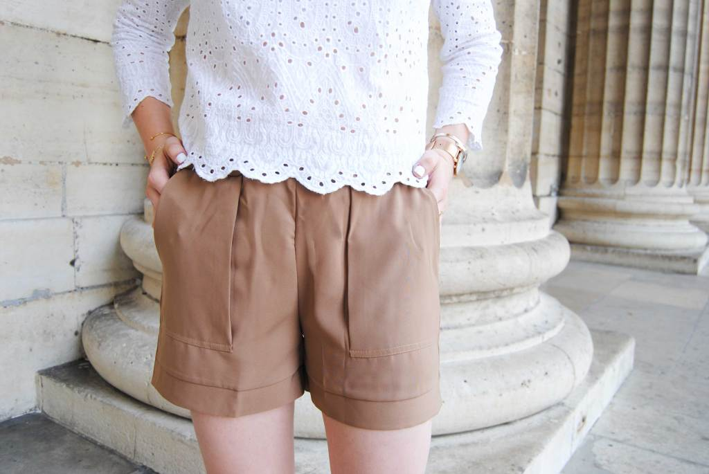 short-confort-camel-sheinside