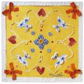 Charlotte_Olsson_Art_Konst_pocketsquare_näsduk_siden_silk_design_mönster_yellow_sunny_flirt