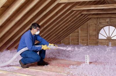 Attic insulating services