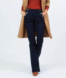 Jean flare double boutonnage Etam - Back to school - Charonbelli's blog mode
