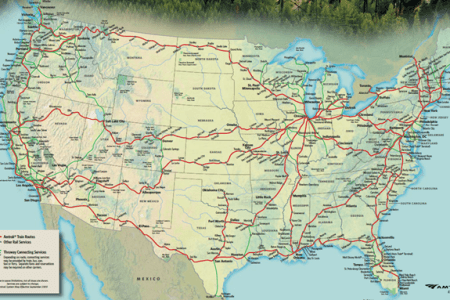 gallery for > amtrak map