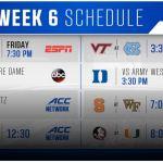 ACC Week 6 Football Schedule