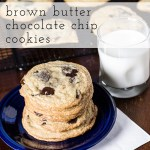Gigantic Brown Butter Chocolate Chip Cookies