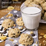 Peanut Butter Banana Cookies with Banana Chips